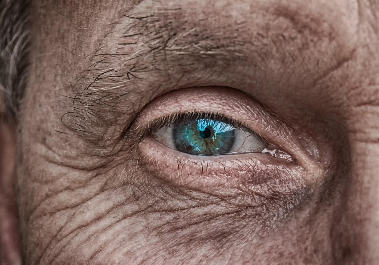 eye of an old woman