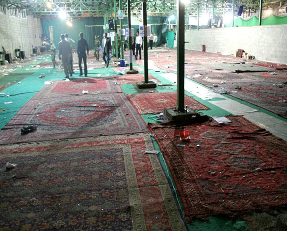 "The 2008 bombing, which Iran blames on US-based ""terrorists"", ripped through a packed mosque in the southern city of Shiraz, killing 14 people and wounding 215"