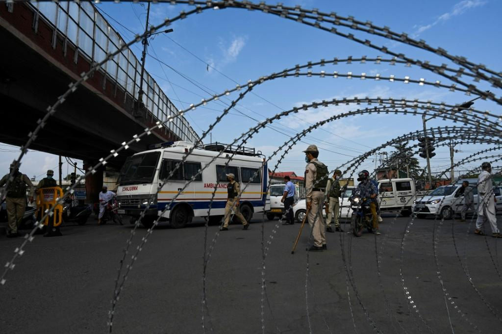 Indian-administered Kashmir was placed under lockdown for the anniversary