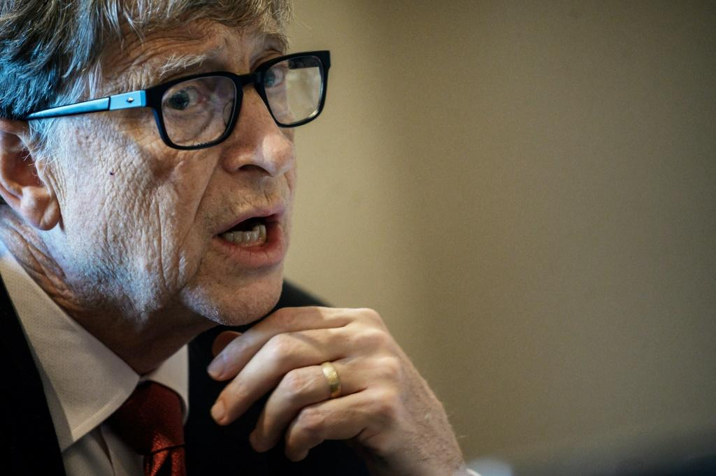 Microsoft founder and philanthropist Bill Gates, seen here in October 2019, has been a top target of Russian-backed conspiracy theories, according to a US report