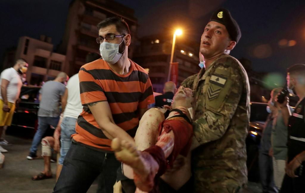 The huge numbers of wounded quickly overwhelmed Beirut's hospitals