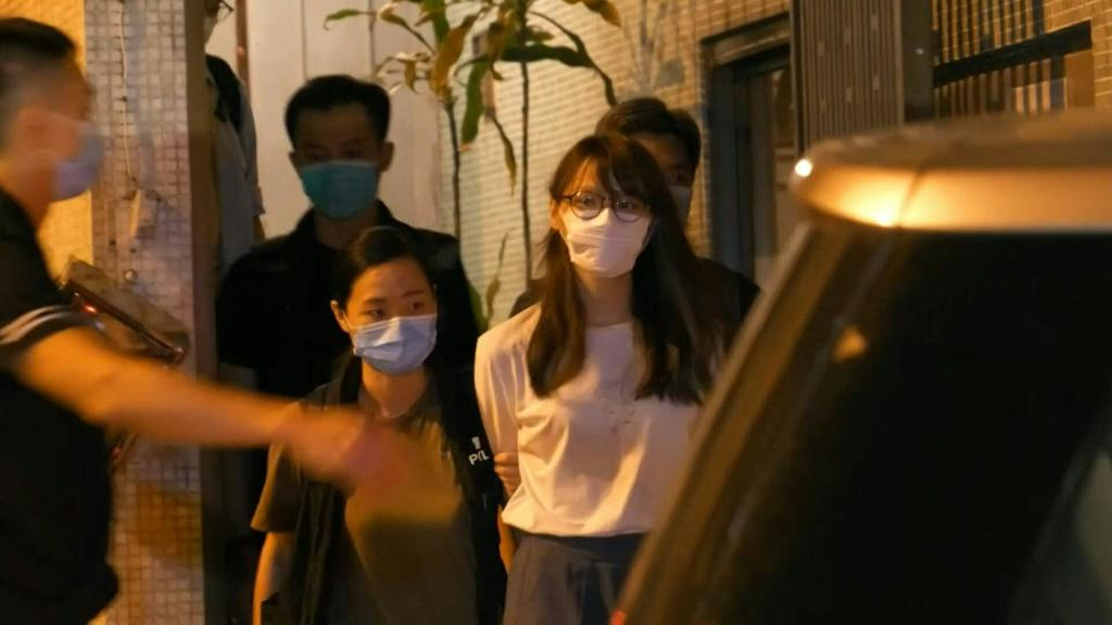 """Prominent Hong Kong democracy activist Agnes Chow is arrested under a new national security law """"It's now confirmed that Agnes Chow has been arrested for 'inciting secession' under the national security law,"""" her Facebook account said. A police source c"""