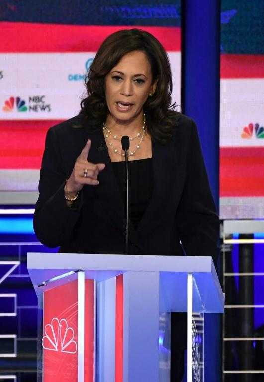 Democratic vice presidential nominee Kamala Harris landed blows against rivals during presidential debates with other 2020 candidates, but she ultimately dropped out of the race in late 2019 and endorsed the nominee Joe Biden