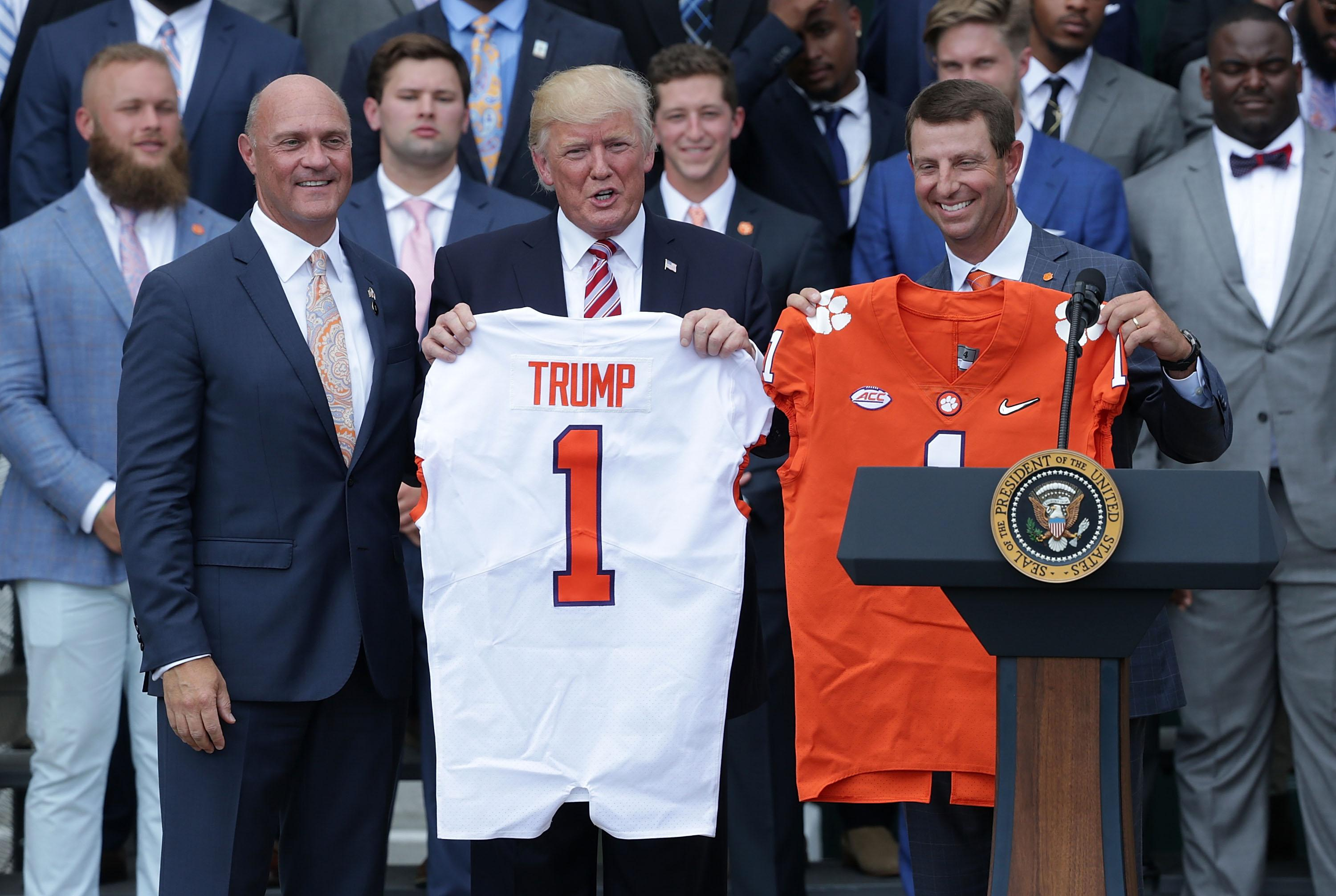 Donald Trump Dabo Swinney Clemson