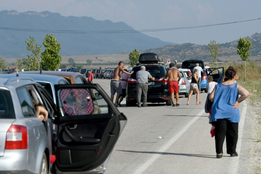 Thousands of Albanians headed for the Greek border
