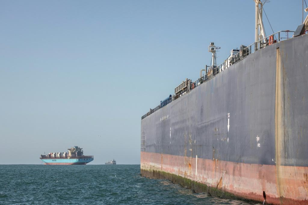 Since 2016, ship-to-ship refuelling, or bunkering, has been possible in Algoa Bay -- the main storage tanker can hold 100,000 metric tons of fuel