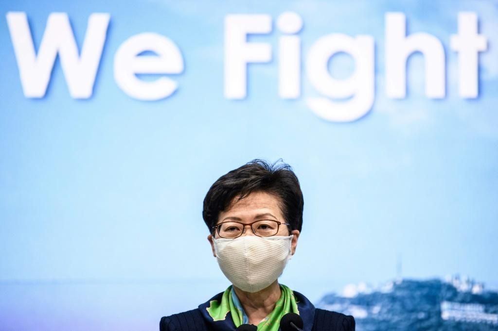 Chief Executive Carrie Lam was personally targeted along with 10 other senior city officials in the toughest US action on Hong Kong
