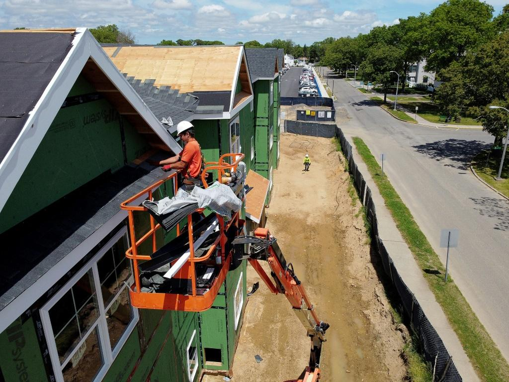 US home construction surged in July, with apartment buildings jumping nearly 57 percent