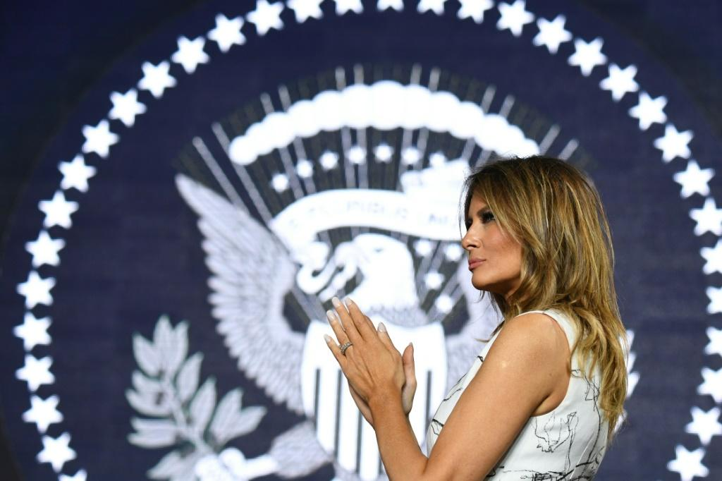 First Lady Melania Trump -- seen here during 2020 Independence Day celebrations at Mount Rushmore -- will vouch for her husband Donald Trump on night two of the Republican National Convention