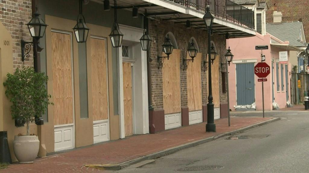 IMAGES AND SOUNDBITESImages of boarded up houses and empty streets in New Orleans as wind and rain - brought by tropical storm Marco - pick up in swampy southern Louisiana. Meanwhile, Tropical Storm Laura is expected to strengthen into a hurricane as it b