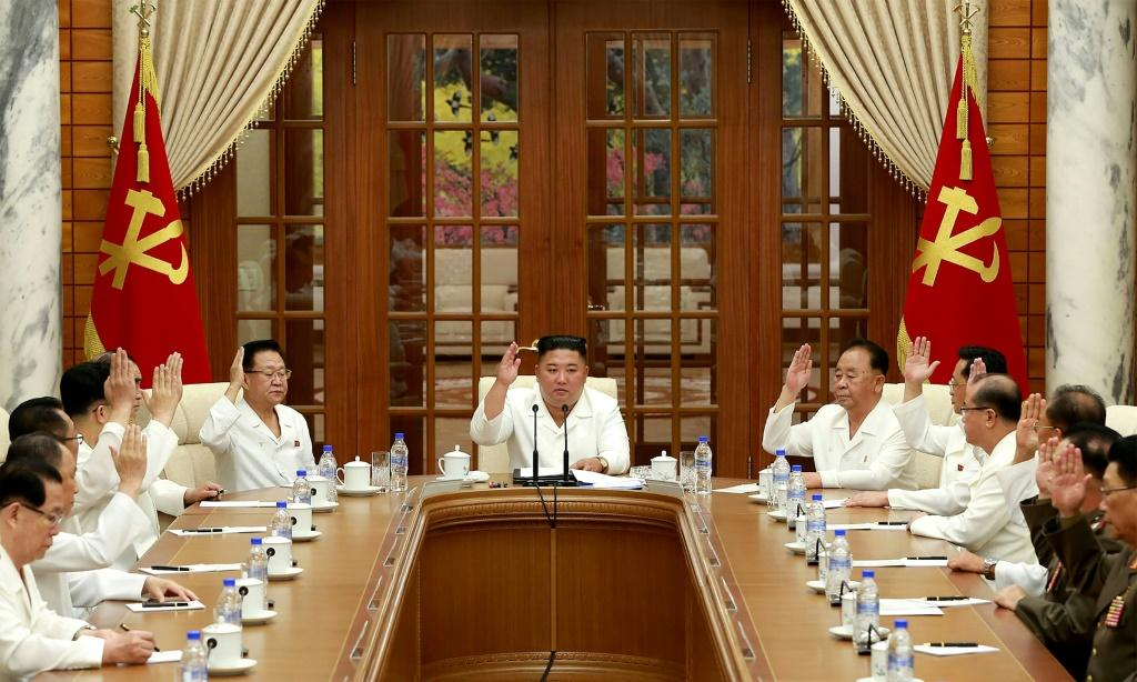 Kim presided over a meeting Tuesday of a top committee of the ruling Workers' Party, the official KCNA news agency reported