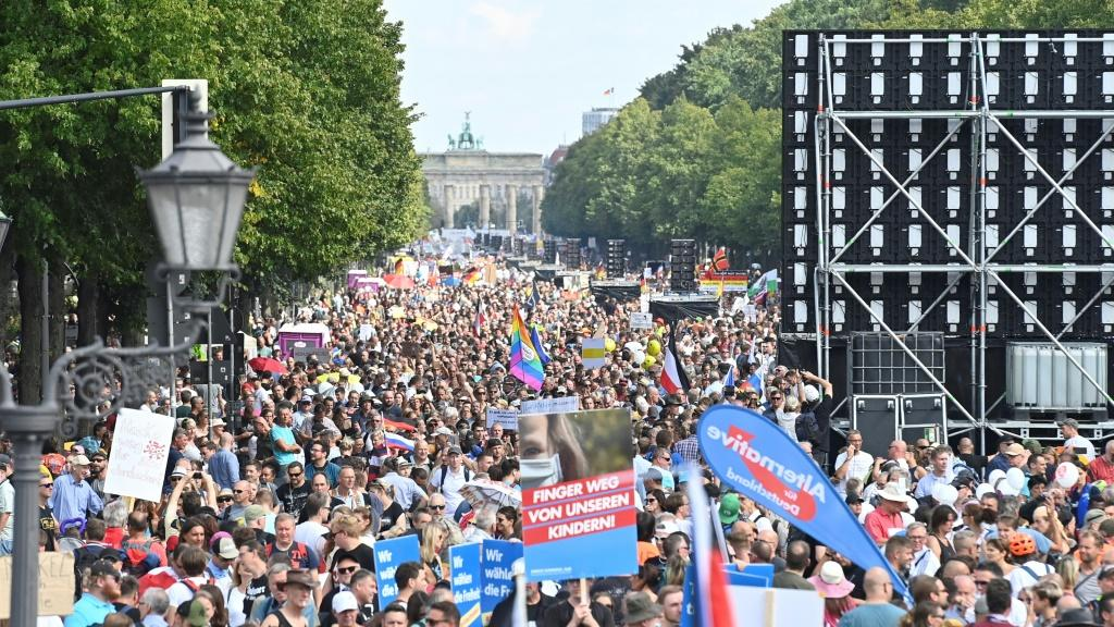Berlin's mass protest against pandemic restrictions had been allowed to go ahead after a bitter legal battle