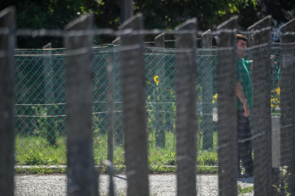 Many of the other inhabitants of the asylum seeker accommodation have left for western Europe