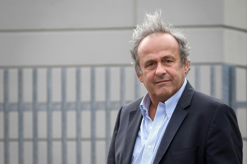 Michel Platini arriving for Monday's hearing