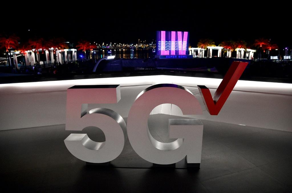 The Verizon 5G Stadium at Super Bowl LIVE on January 30, 2020 in Miami, Florida: Verizon was the top bidder for US 5G bandwith, aiming to spend $1.9 to build an ultra-fast network