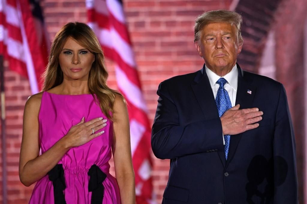 "In a rare public statement, US first lady Melania Trump said the allegations about her husband published by The Atlantic magazine -- that he called fallen US Marines ""losers"" and ""suckers"" -- were false"