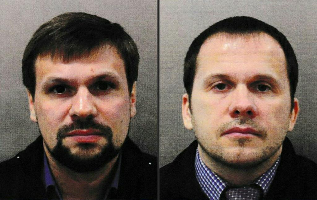 Two Russian men were named by British police as the main suspects in the Salisbury poisonings