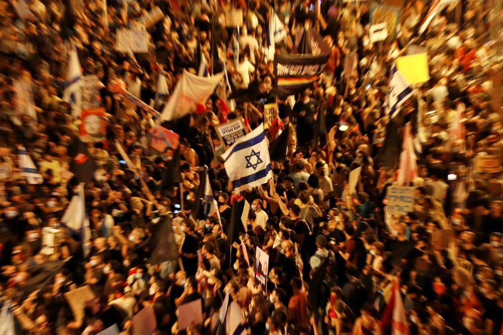 Rising case numbers of coronavirus in Israel has fuelled protests against Prime Minister Benjamin Netanyahu's management of the crisis