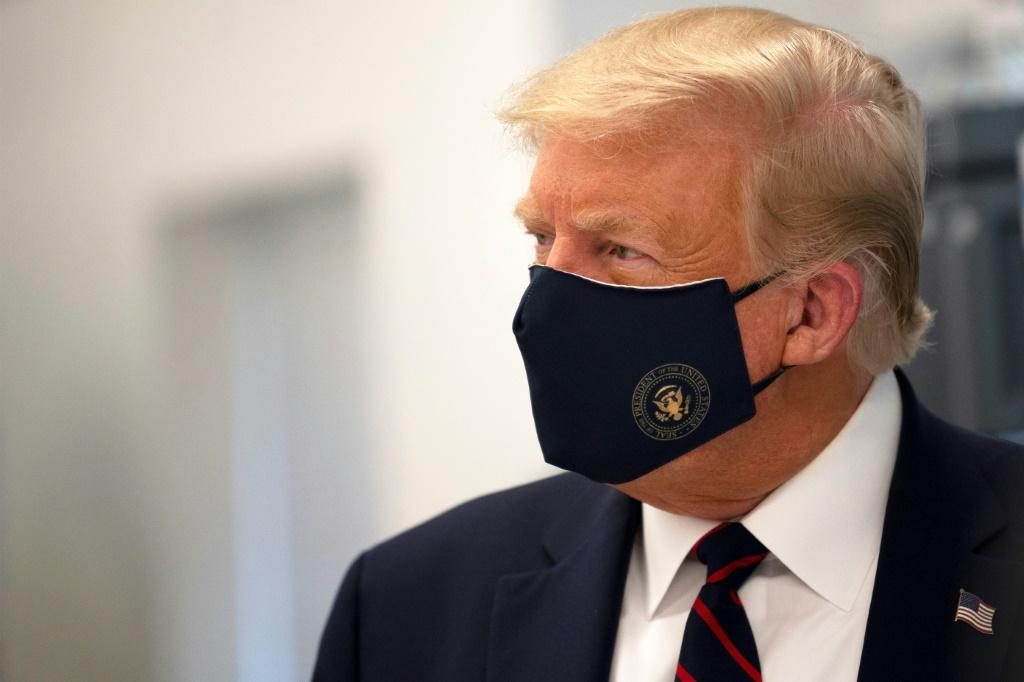It took US President Donald Trump months to wear a mask in public for the first time