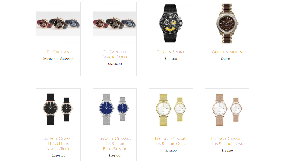A quick look at Craig Shelly's best selling luxury pieces