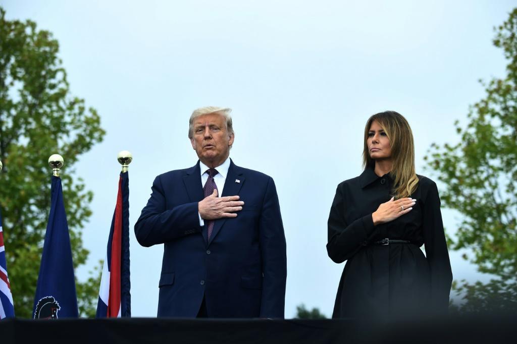 US President Donald Trump and First Lady Melania Trump attended a ceremony commemorating the 19th anniversary of the 9/11 attacks, in Shanksville, Pennsylvania