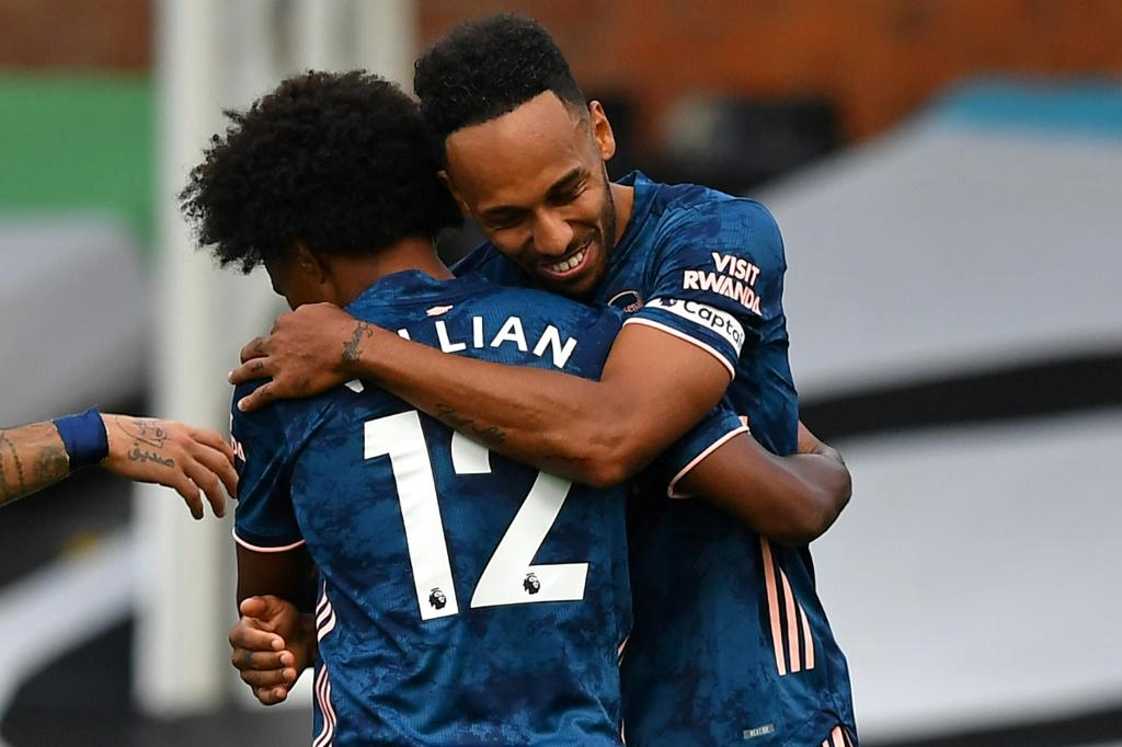 Arsenal's Pierre-Emerick Aubameyang scored in the win at Fulham