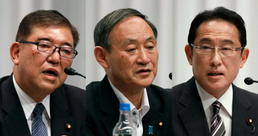 Three candidates will battle for the ruling party leadership, with the winner tipped to become Japan's next prime minister