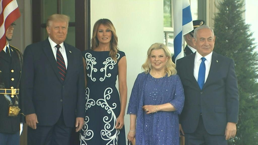 IMAGESIsrael's Prime Minister Benjamin Netanyahu arrives at the White House ahead of a ceremony that will see Israel sign an agreement to normalize relations with long-time foes Bahrain and the United Arab Emirates.