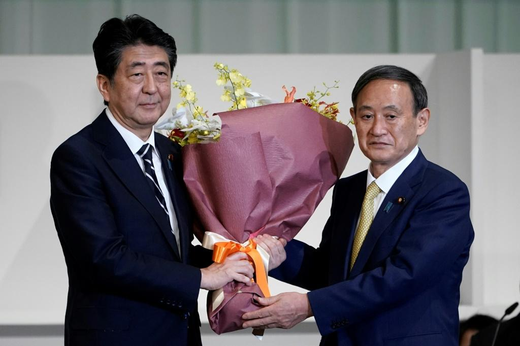 Suga is a long-time supporter of and advisor to Abe, who urged him to seek a second term