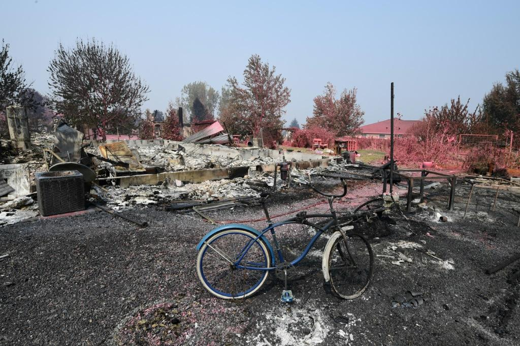 Fires up and down the US West Coast have charred an area roughly the size of the state of New Jersey