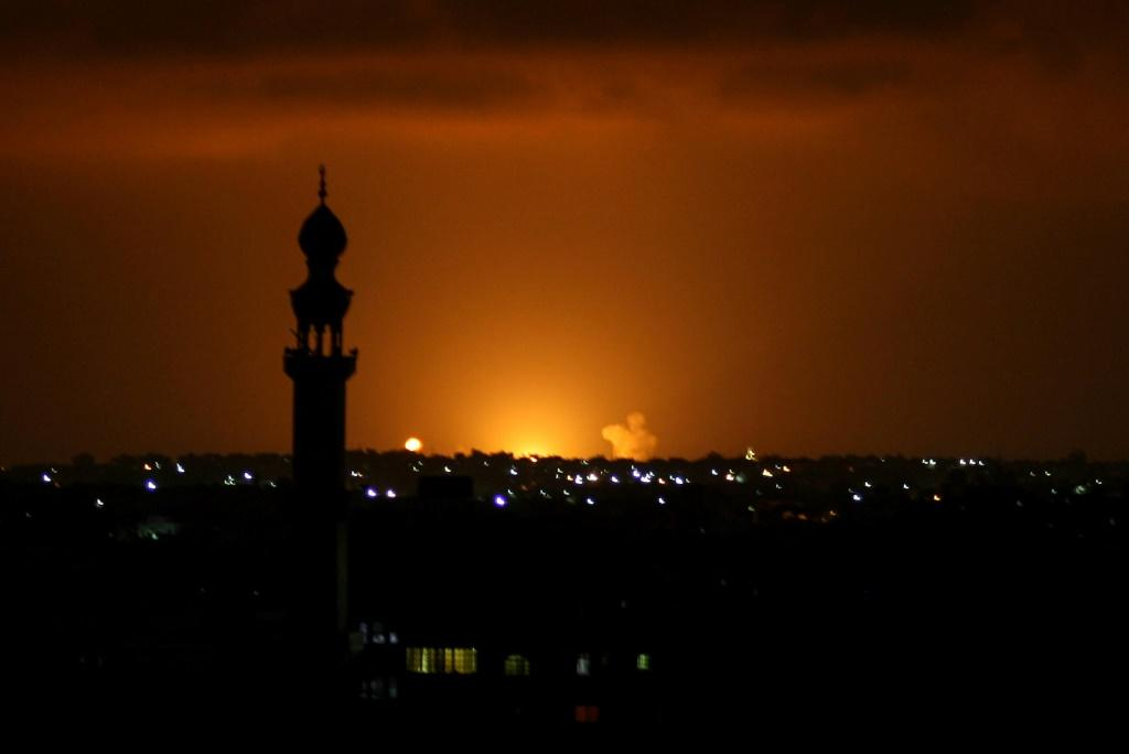 Israel's military said it responded to rocket attacks with air strikes on Hamas targets in Gaza