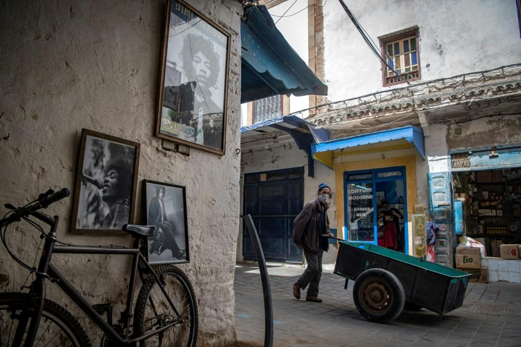 Pictures of late guitar legend Jimi Hendrix are a fixture of life in the Moroccan coastal city of Essaouira and the nearby village of Diabat