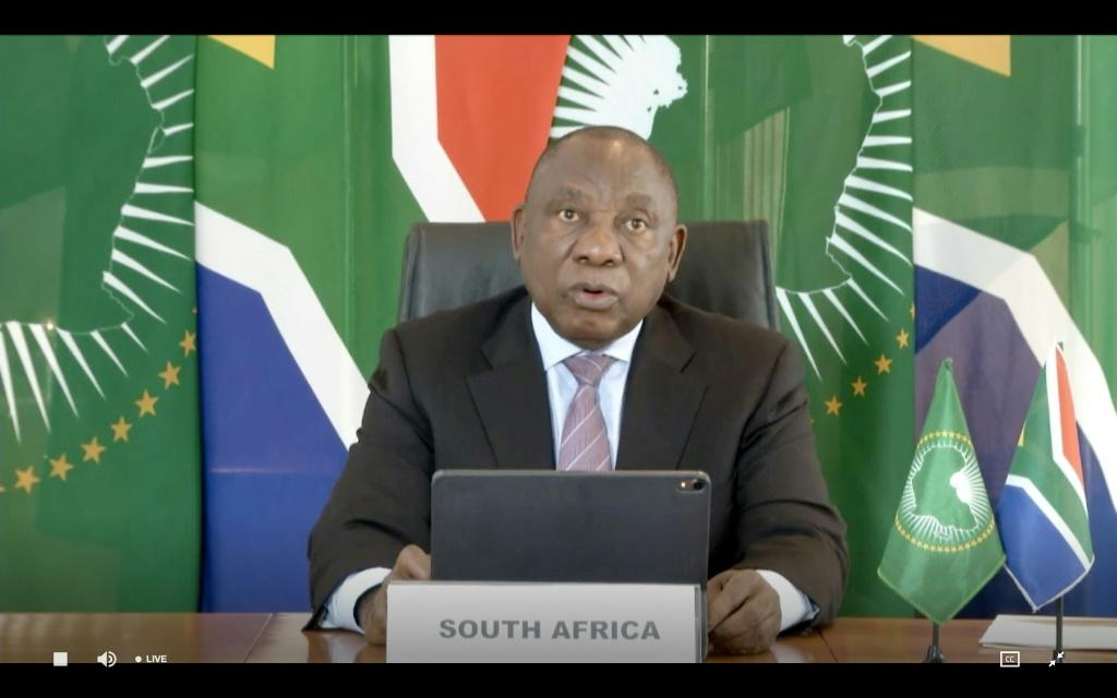 President Cyril Ramaphosa - here in May 2020 - said that international travel would