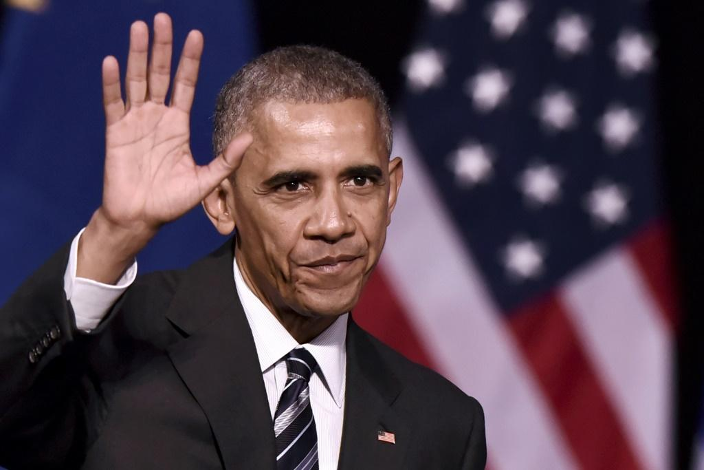US President Barack Obama -- seen here in 2016 -- has written the first volume of his memoirs