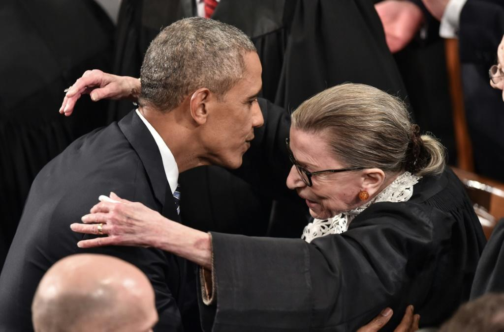 """Barack Obama said in a tweet that Ginsburg """"fought to the end, through her cancer, with unwavering faith in our democracy and its ideals"""