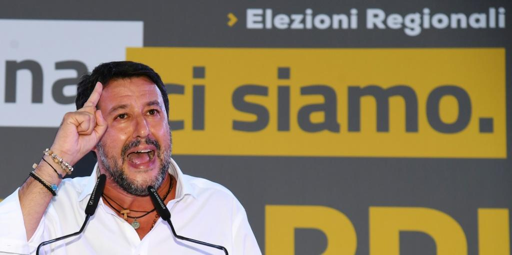 Former interior minister Matteo Salvini and Lega party leader is a part of a centre-right coalition fighting the regional elections