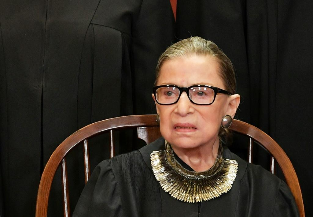 Justice Ruth Bader Ginsburg poses for the official photo at the Supreme Court in Washington, DC in 2018