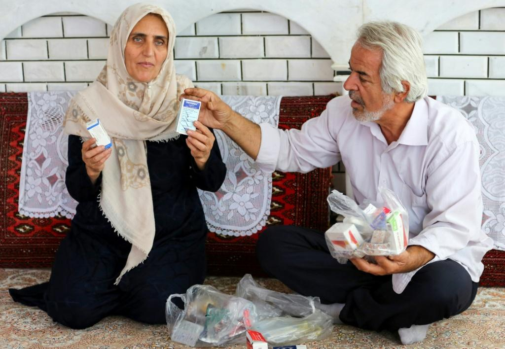 Leila Marouf Zadeh (left) helped survivors after the attack before being temporarily blinded, while her husband Mohammad Zamani (right) remembers the stench of of