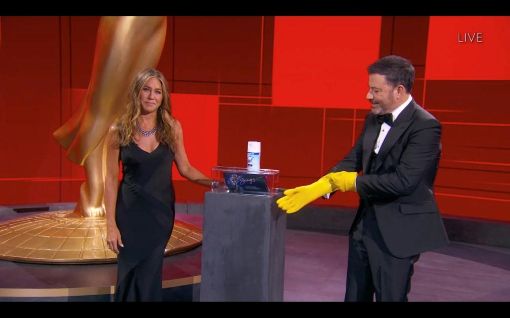 """The Emmys ceremony was held in a mostly empty venue in Los Angeles -- with host Jimmy Kimmel dubbing them """"the pand-Emmys"""