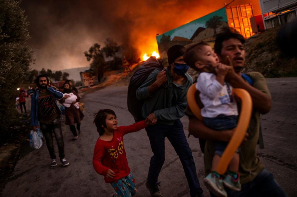 A fire in the Moria camp in Lesbos this month has focused attention on EU migration policy