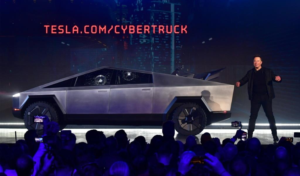 Elon Musk presents the all-electric battery-powered Tesla Cybertruck in November 2019. Analysts are expecting Tesla to have made progress towards a million-mile battery lifespan