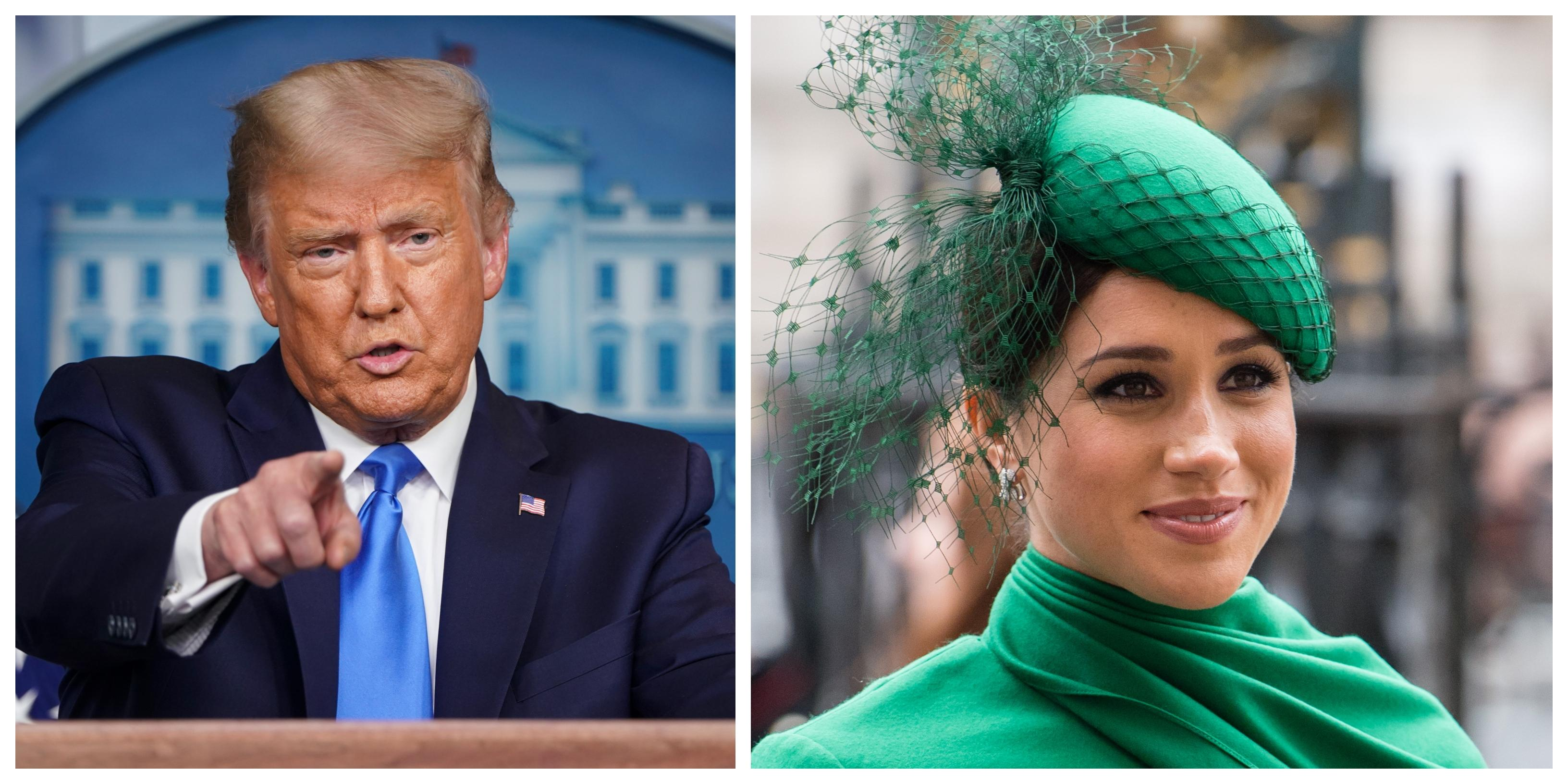 'I wish Harry luck': Donald Trump 'not a fan' of Meghan