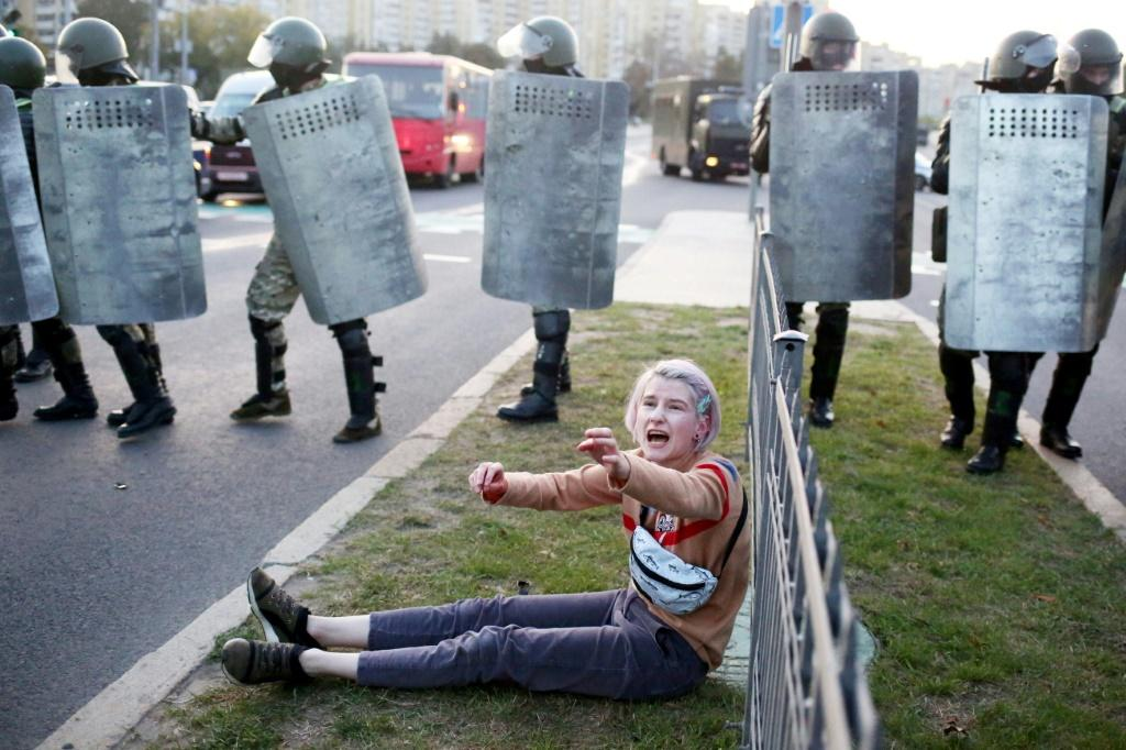Police crackdowns continued Wednesday at protests against Alexander Lukashenko's inauguration