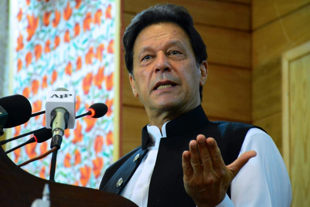 Pakistan's Prime Minister Imran Khan, seen here in August 2020, has asked the United Nations to act against what he calls rising Islamophobia