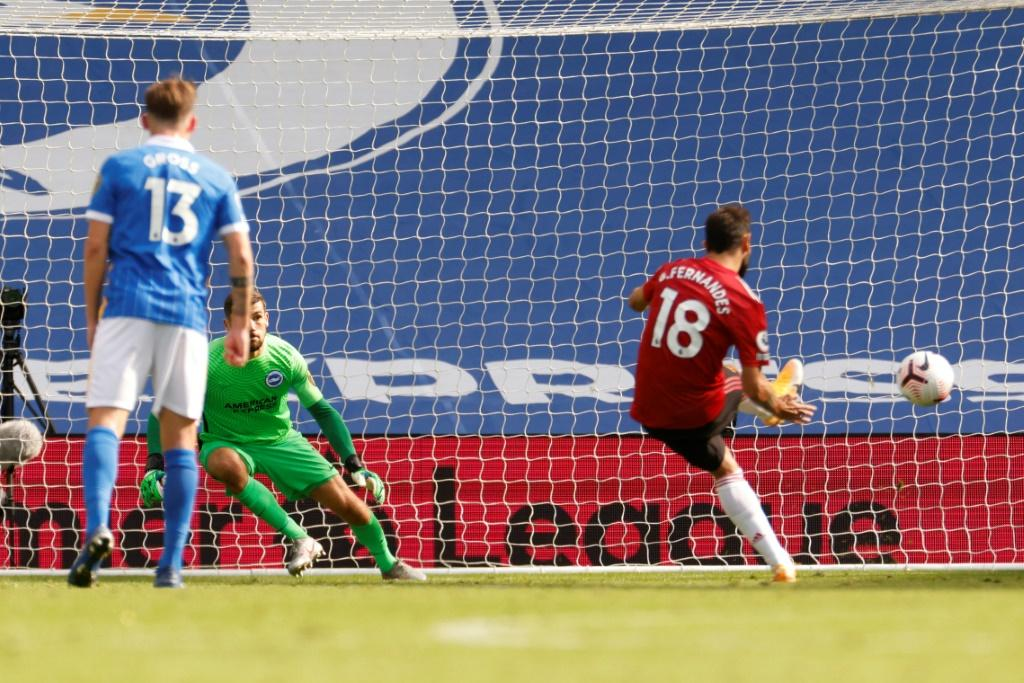 Bruno Fernandes scored in the 100th minute to hand Manchester United a 3-2 win at Brighton
