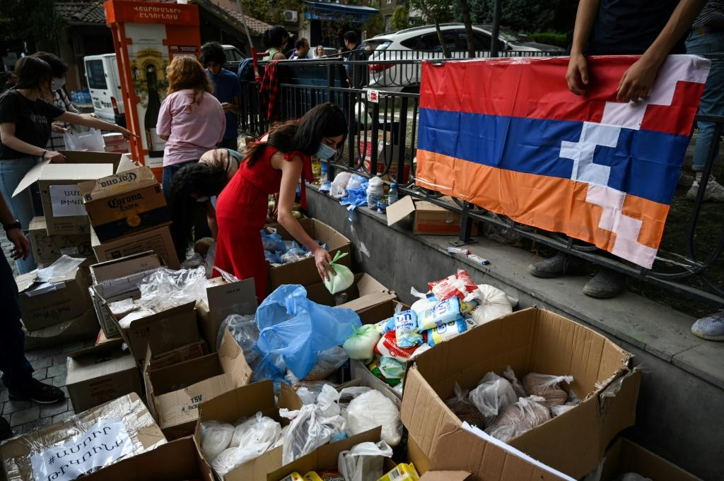 Volunteers in Yerevan are organising aid for refugees and soldiers