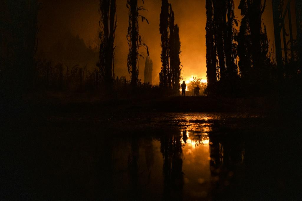 US President Donald Trump recently suggested that wildfires like this one engulfing the Chateau Boswell Winery in Napa Valley, California on September 27, 2020 are the result of forest mismanagement, not climate change