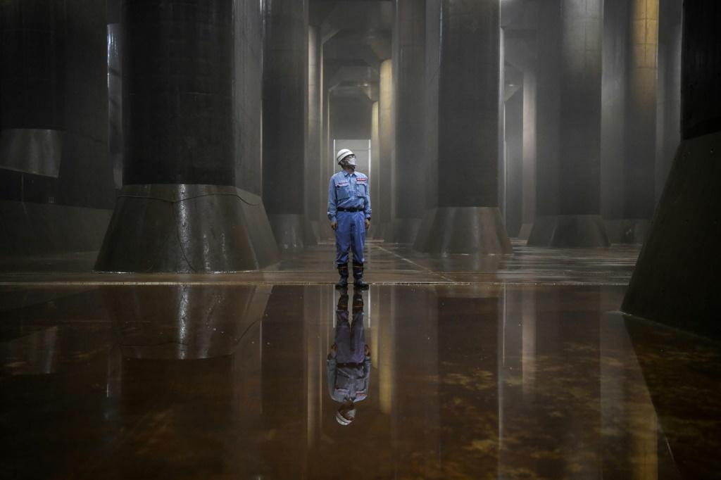 It has been called Japan's underground 'Parthenon', a cavernous complex charged with protecting Tokyo and surrounding areas from catastrophic flooding -- a risk experts warn is growing as climate change advances