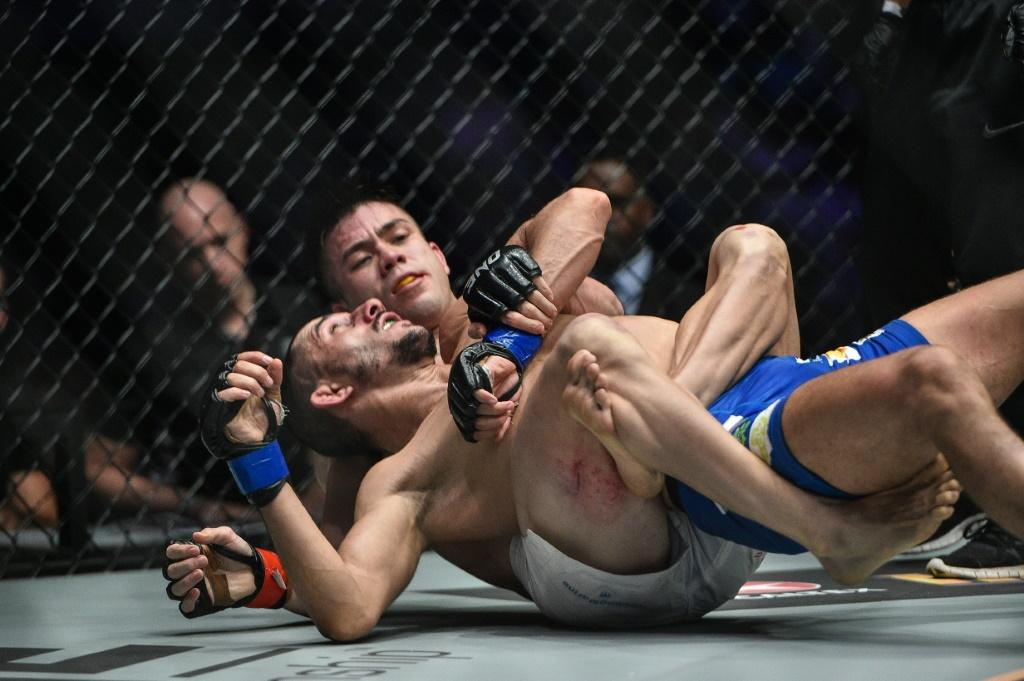 Mark Striegl (white shorts) makes his UFC debut on Sunday ahving taken a mountainous path forged by centuries of feared Filipino warriors and followed by boxing great Manny Pacquiao