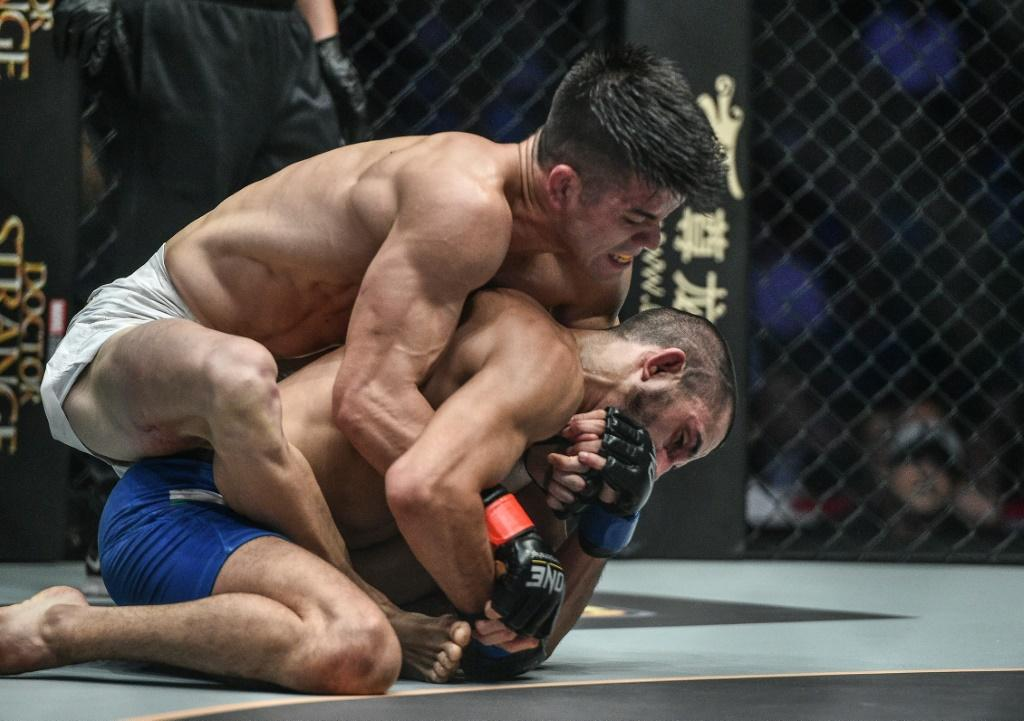 Mark Striegl (white shorts) will become the first Filipino to fight in UFC when he makes his debut in Abu Dhabi on Sunday